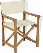Chaise pliable de metteur en scène Bois de teck