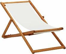 Chaise pliable de plage Bois d'eucalyptus et