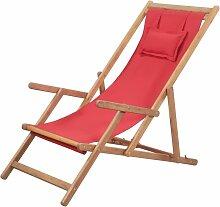 Chaise pliable de plage Transat de jardin Bain de