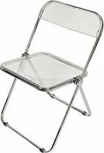 Chaise pliante acrylique chaise hombuy® pour