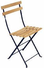 Chaise pliante Bistro / Bois - Fermob bleu en bois