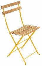 Chaise pliante Bistro / Bois - Fermob jaune en bois