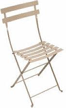Chaise pliante Bistro / Métal - Fermob beige en