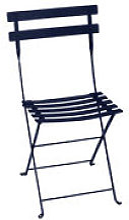 Chaise pliante Bistro / Métal - Fermob bleu en