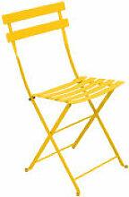 Chaise pliante Bistro / Métal - Fermob jaune en