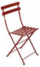 Chaise pliante Bistro / Métal - Fermob rouge en