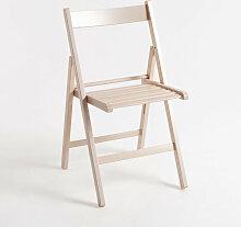 Chaise Pliante Bois - Blanc