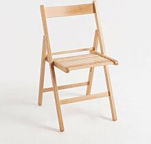Chaise Pliante Bois - Marron