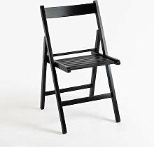 Chaise Pliante Bois - Noir