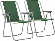 Chaise pliante de camping 2 pcs 52 x 59 x 80 cm