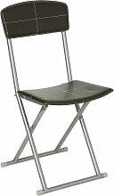Chaise pliante design Marron Marron - Atmosphera