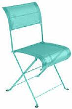 Chaise pliante Dune / Toile - Fermob bleu en