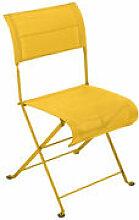 Chaise pliante Dune / Toile - Fermob jaune en