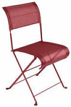 Chaise pliante Dune / Toile - Fermob rouge en