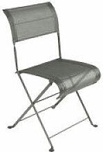 Chaise pliante Dune / Toile - Fermob vert/gris en