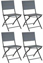 Chaise pliante en acier et toile dream (lot de 4)