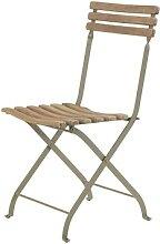 Chaise pliante LAREN de Ethimo, Teck décapé
