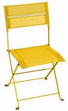 Chaise pliante Latitude / Toile - Fermob jaune en