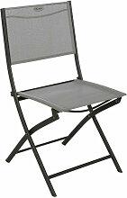 Chaise pliante Modula galet/graphite Hespéride -
