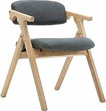 Chaise pliante rembourrée de chaise en bois avec