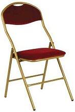 chaise pliante super de luxe 48x39x88 velour rouge