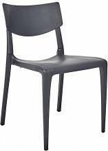 Chaise repas de jardin empilable polypropylène -