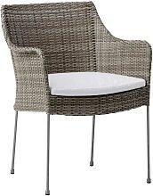 Chaise repas empilable en acier et fibre