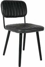 Chaise rétro capitonnée jake worn - couleur -
