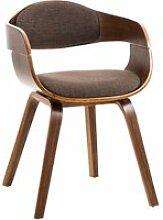 Chaise retro kingston en tissu , noyer / marron