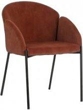 Chaise rétro tissu marron mundo