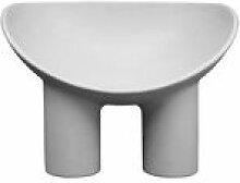 Chaise Roly Poly / Polyéthylène - Driade gris en
