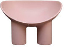 Chaise Roly Poly / Polyéthylène - Driade rose en