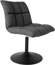 Chaise rotative tissu gris foncé