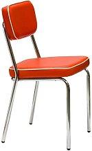 Chaise rouge vintage ELISE (lot de 2)