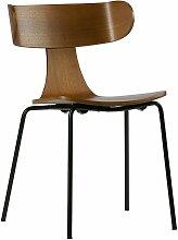 Chaise salle à manger rétro bois métal marron