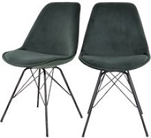 Chaise scandinave - avihu - vert bouteille - pieds
