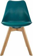 Chaise scandinave Baya - Bleu
