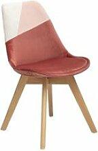 Chaise scandinave baya patchwork rose blush