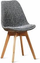 Chaise scandinave gris patchwork - Bjorn Gris -