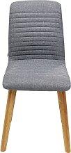 Chaise scandinave grise et chêne