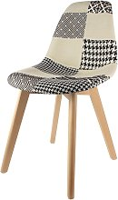 Chaise scandinave Patchwork - H.85 cm - 46,5 x 54