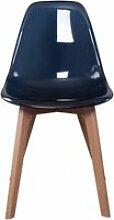 Chaise scandinave - transparent - noir
