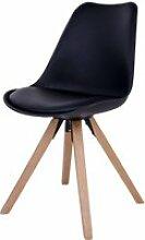 Chaise scandinave - umbreta - noir - pieds en bois