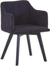 Chaise style scandinave candy velours noir