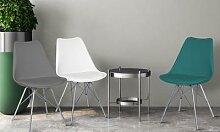Chaise style scandinave Epura : Noir / x2