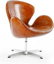 Chaise Swan Arne Jacobsen - Marron vintage