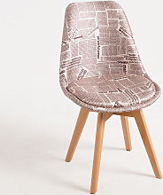 Chaise Synk Patchwork - Newspaper