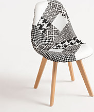 Chaise Synk Patchwork - Patchwork blanc et noir