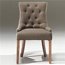 Chaise taupe design ANGELINA