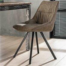 Chaise taupe moderne SANCHEZ (lot de 4)